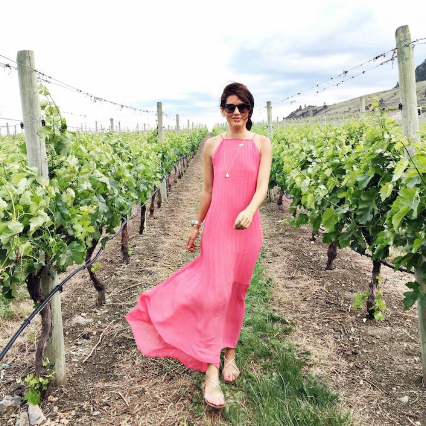 Pink Dress - Jillian Harris