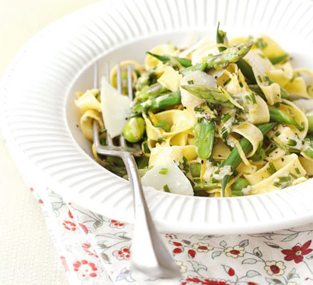 Spring Food and Wine Matching - Spring Vegetable Tagliatelle and Soave